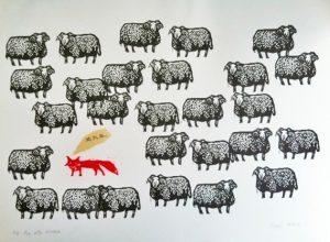 Fox with Insomnia by Jazmin Velasco