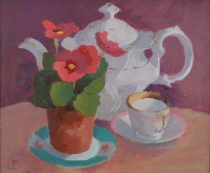 Pink Primula - Jenny Sutton