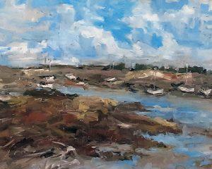 Boats on the Mud flats, Philippa Headley