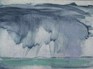 Estuary Weather photo-etching 2018. Ruth Ander